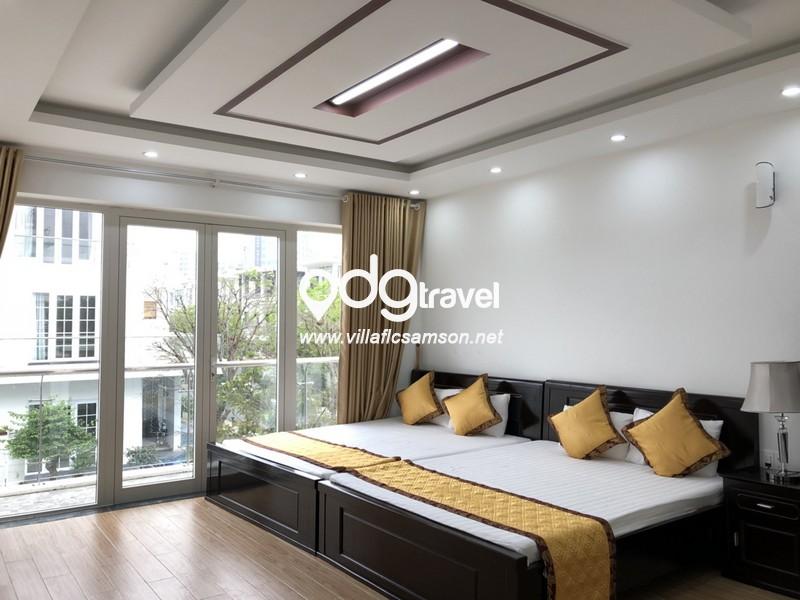 Phòng ngủ căn villa san hô