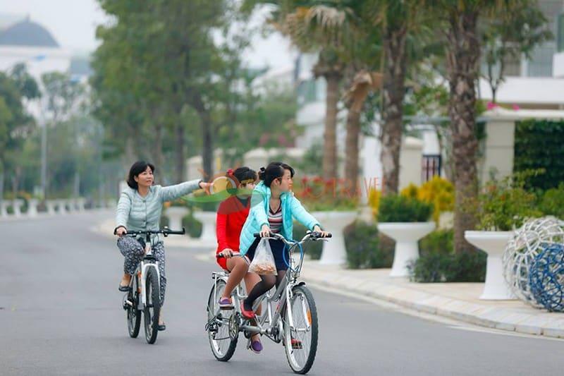 Tiện ích xe đạp thăm quan Villa FLC